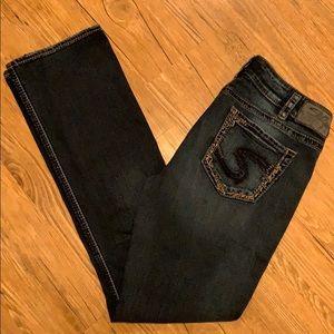 Silver Elyse mid slim bootcut jeans W30 L33 EUC